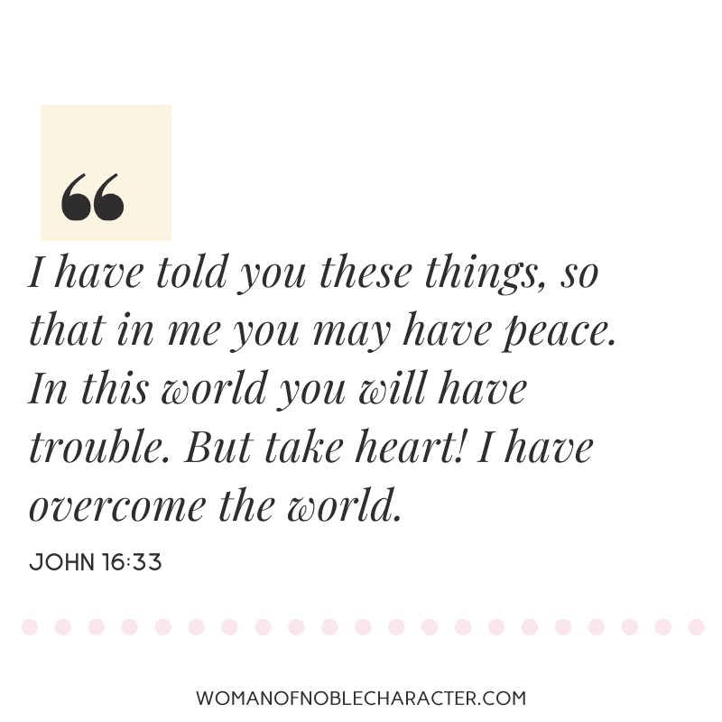 An image quote of John 16:33