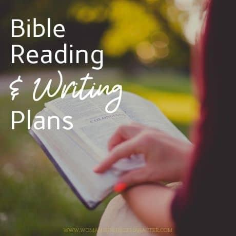 Bible reading_writing plans