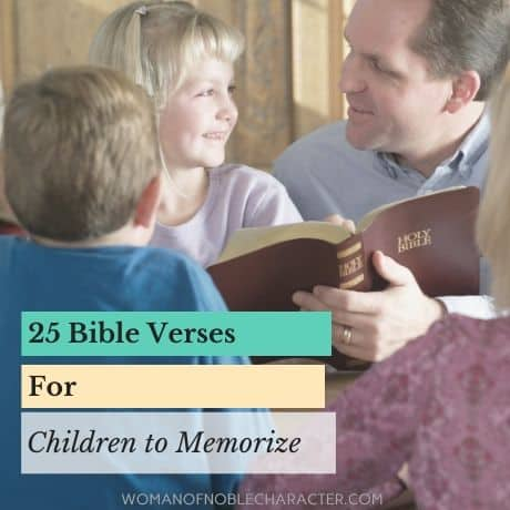 Bible verses for children to memorize