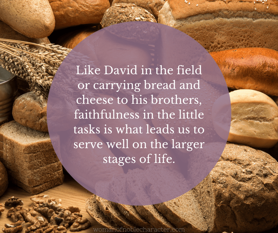 An image of various types of bread - Faithful in the Little Things