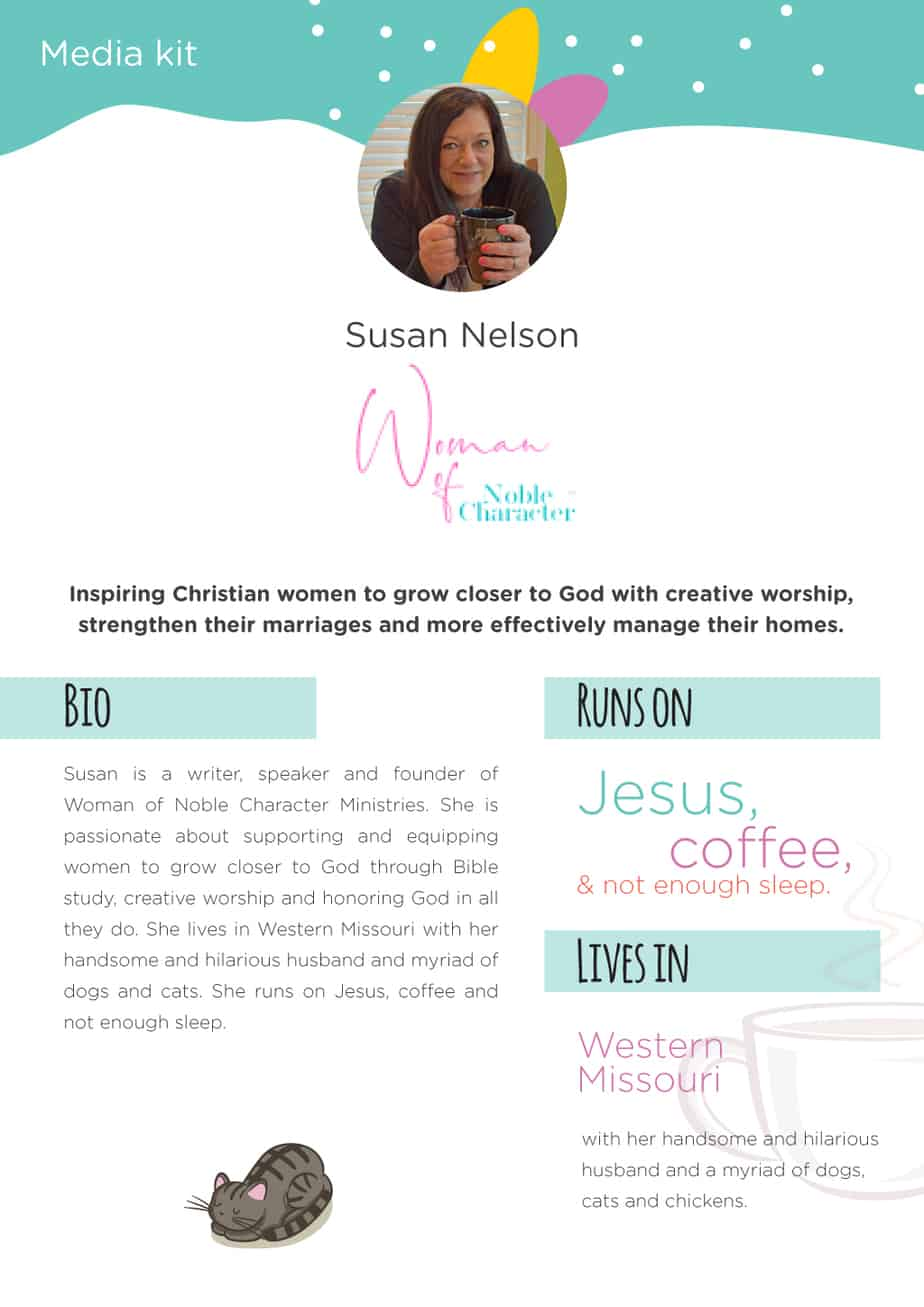 Media Kit Woman of Noble Character Susan J Nelson
