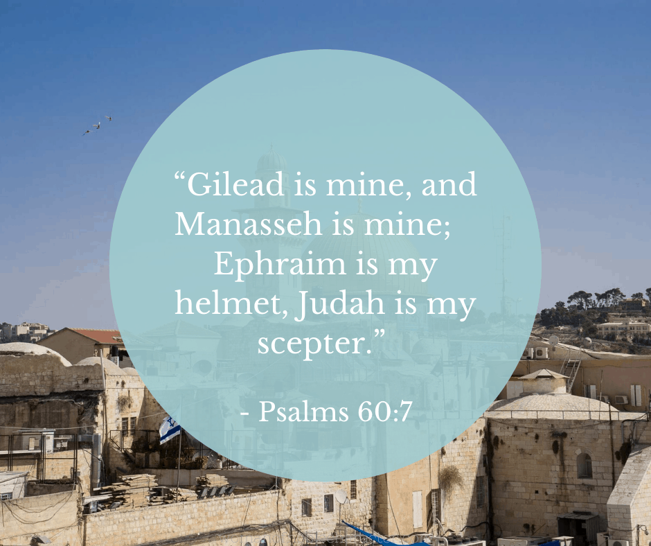 An image of Israel and Psalm 60:7 quoted