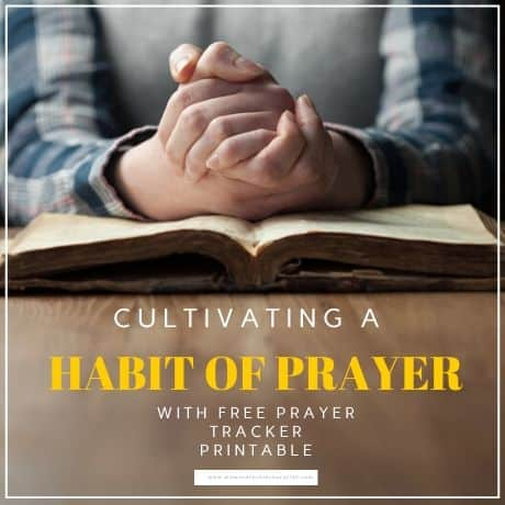 making prayer a daily habit