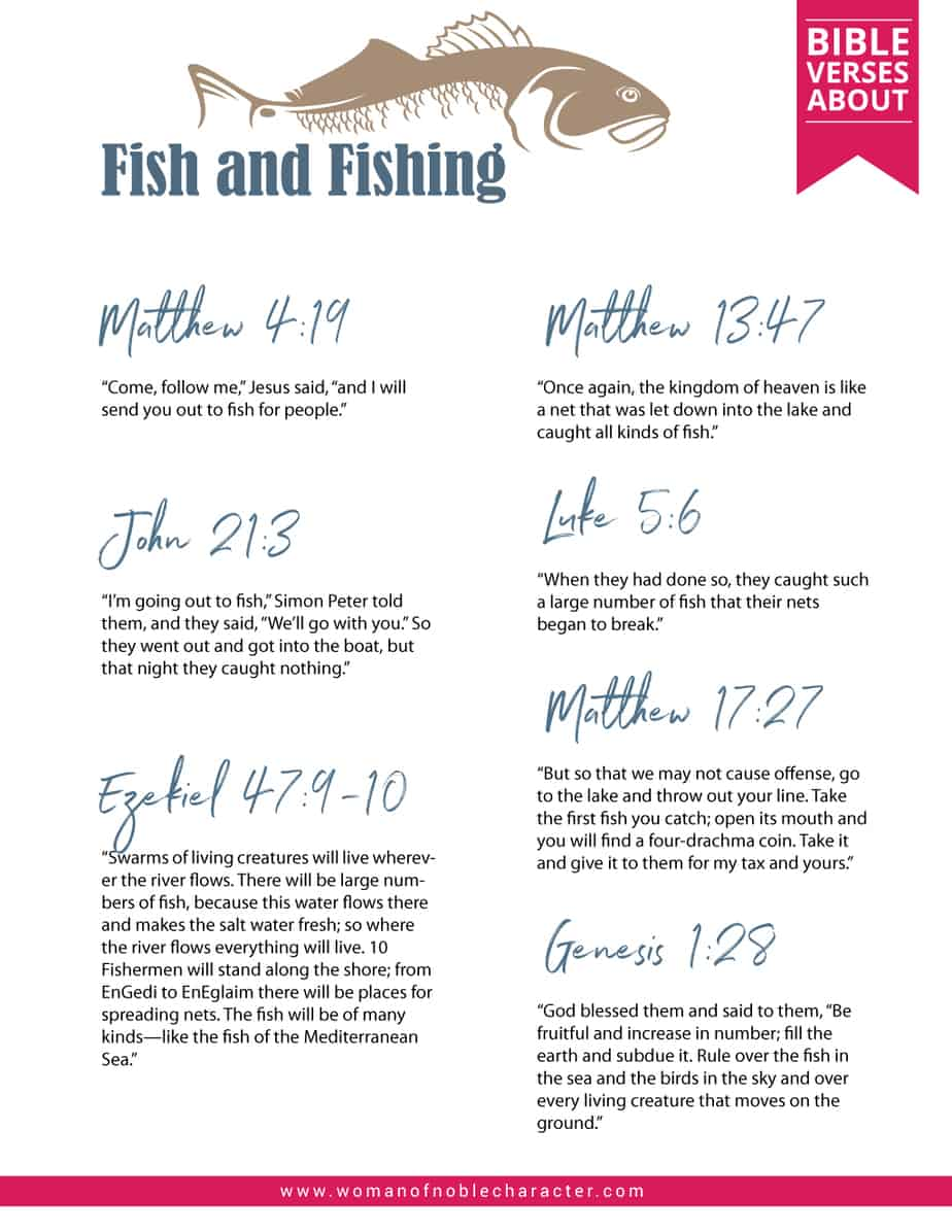 Bible verses about fish and fishing; Fishing in the Bible