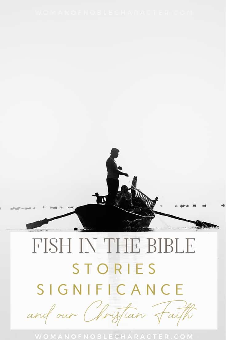 A fisherman out in a row boat - Fish in the Bible
