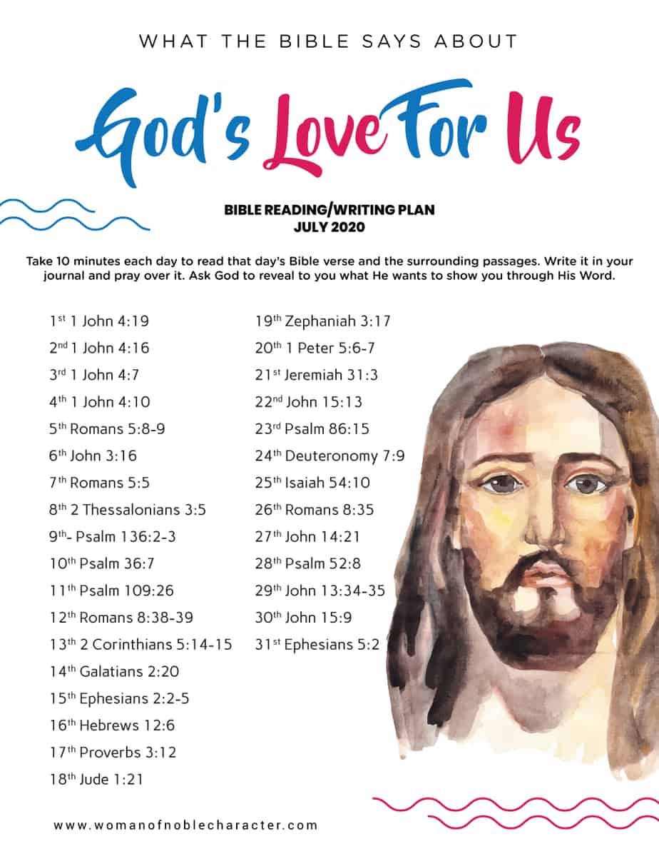 what the Bible says about God's love for us
