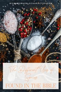 An image of different spices on spoons with an overlay of text that says,