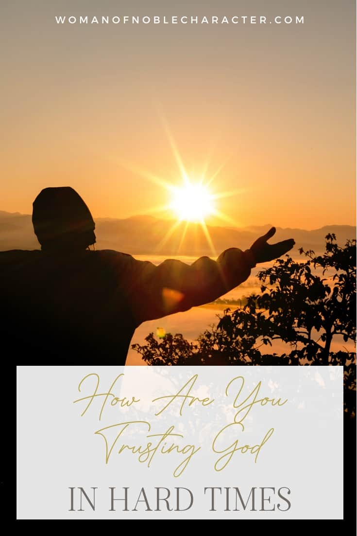 An image of someone in front of a sunset with their arms open wide with text that says,