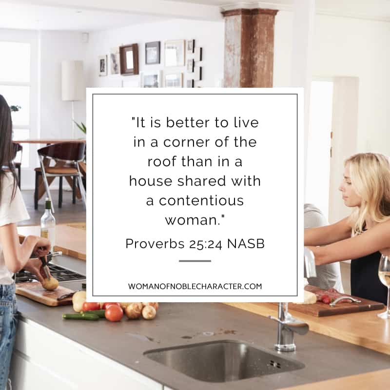 An image of woman at a kitchen island with food with the quote,