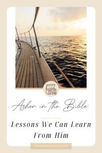 side of boat; Asher in the Bible