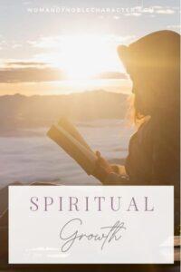 woman reading Bible by lake; Christian spiritual growth posts