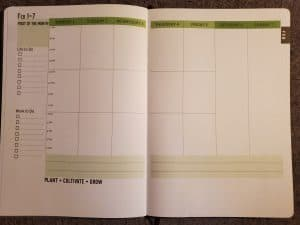 spiritual seeds Christian planner monthly spread
