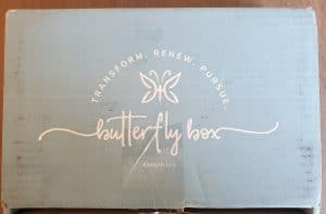 Butterfly box Christian subscription box cover