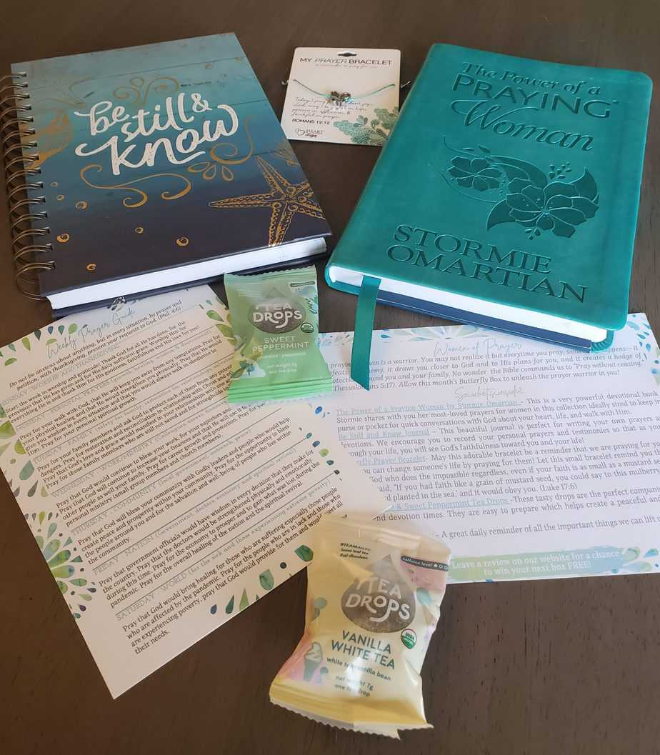 Butterfly box Christian subscription box contents