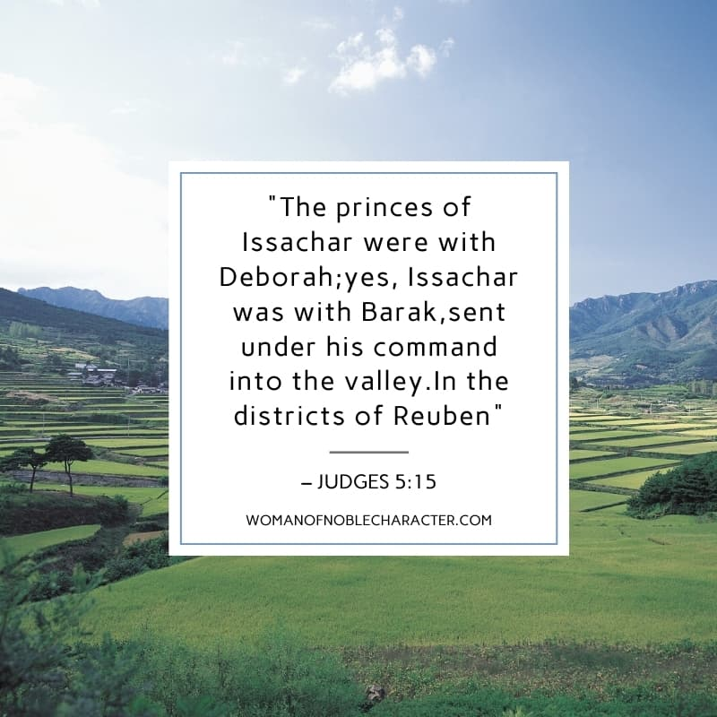 An image of a valley with the quote,