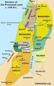 territory of tribe of Joseph (Ephraim and Manasseh)