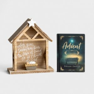 Advent book and nativity set
