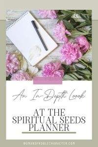 Christian Planner, An In-Depth Look at the Spiritual Seeds Planner