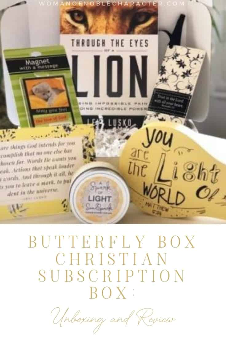 Butterfly Box Christian Subscription Box: Unboxing and Review""