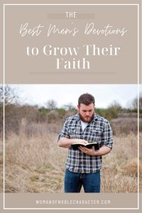 man in field reading Bible; best men's devotions