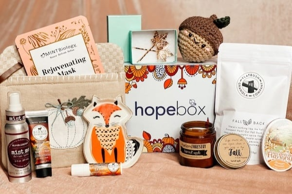 Hope Box Christian monthly subscription box contents