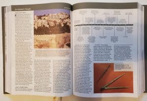 Holy Land Illustrated Bible inside view timeline