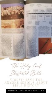 "An image of a bible with the title, ""The Holy Land Illustrated Bible: A Must-Have For Anyone Serious About Bible History"""