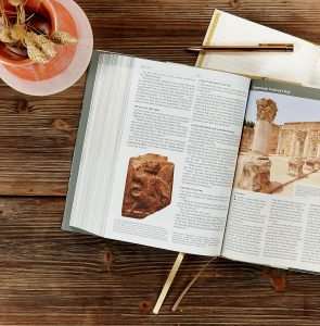 Holy land Illustrated Bible tablescape