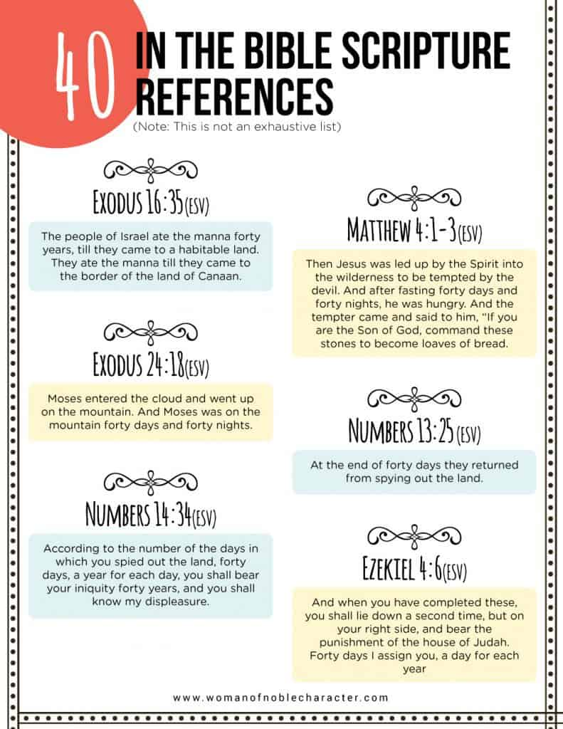 Bible verses about the number 40