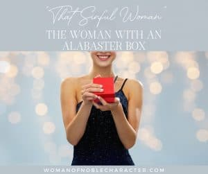 An image of a woman holding a red box with the title,