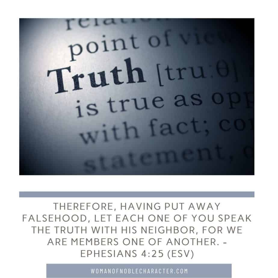 truth; Satan's lies; Ephesians 4:25