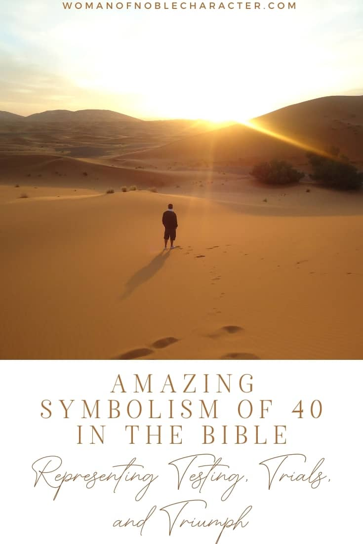 An image of someone walking alone in a desert with an overlay of text that says,