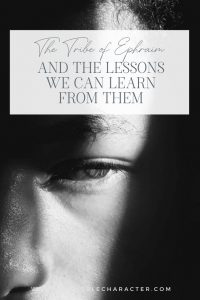 """An image of the side of a man's face with the title, """"The Engaging Tribe of Ephraim and The Lessons We Can Learn From Them"""""""