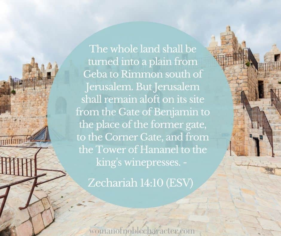 gate at Jerusalem; benjamites Zec 14:10