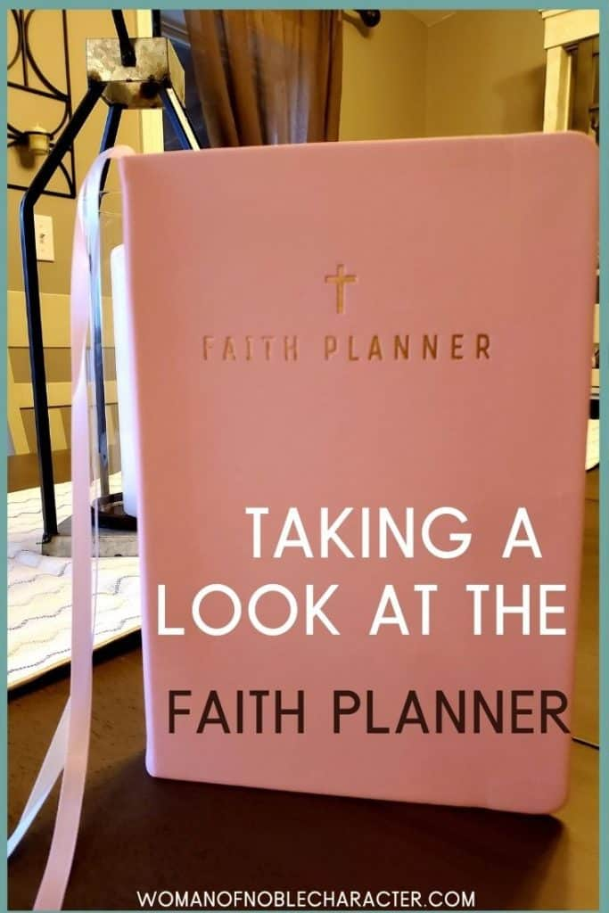 cover of faith planner