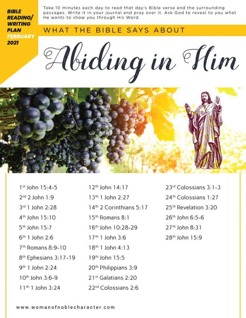 grapevine; what the Bible says about abiding in Him
