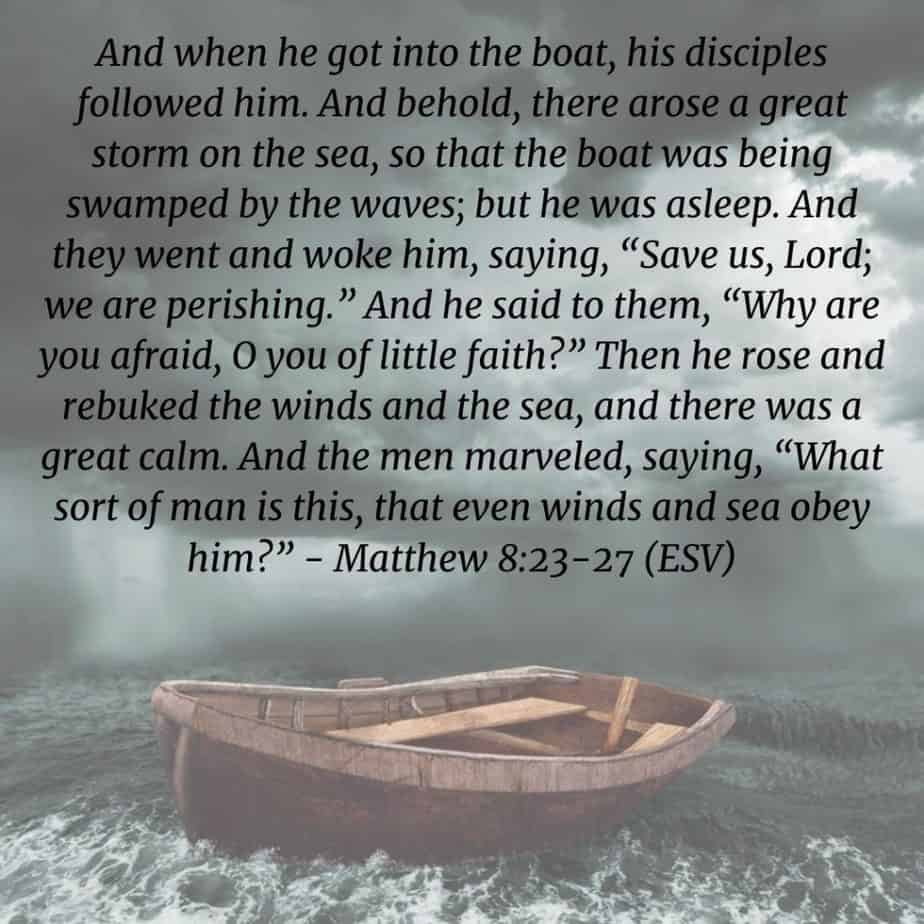 boat in storm, God is our refuge, Matthew 8:23-27