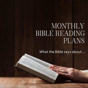 women reading open Bible; Bible reading plans