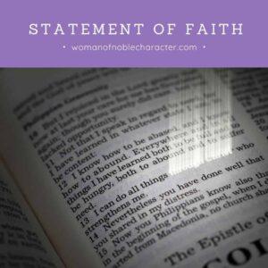 Open Bible; Statement of Faith