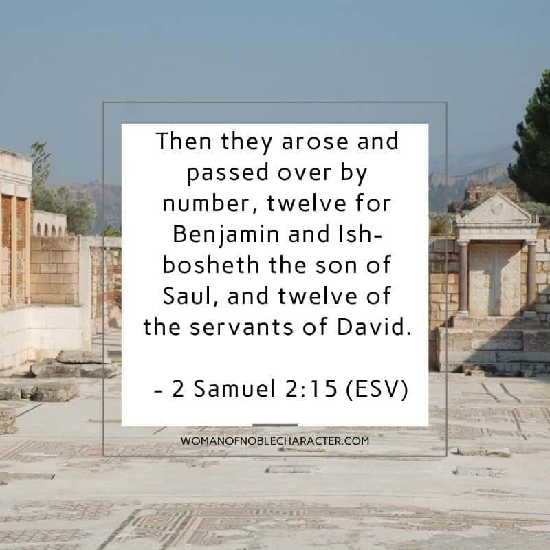 temple of Israel; Tribe of Benjamin 2 Samuel 2:15