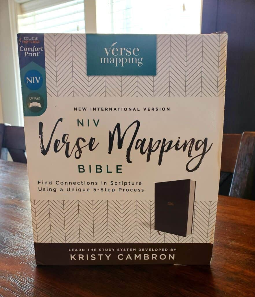 Verse Mapping Bible book cover and box