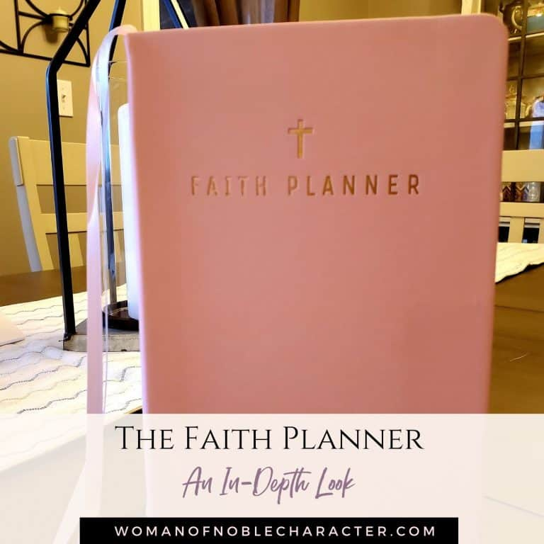 My Honest Review of the Faith Planner for Faith, Time Management & Goals
