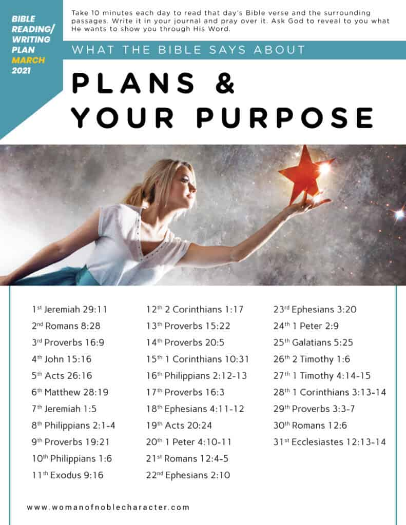 What the BIble says about your plans and purpose