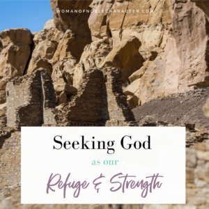 caves in Israel; God is our refuge and strength