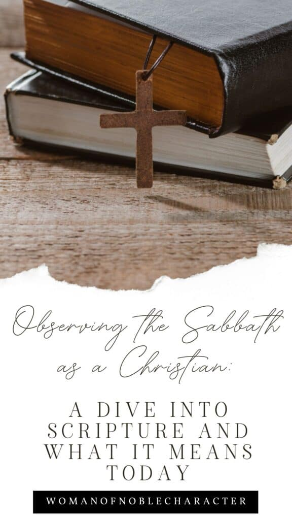 stacked Bibles, observing the Sabbath