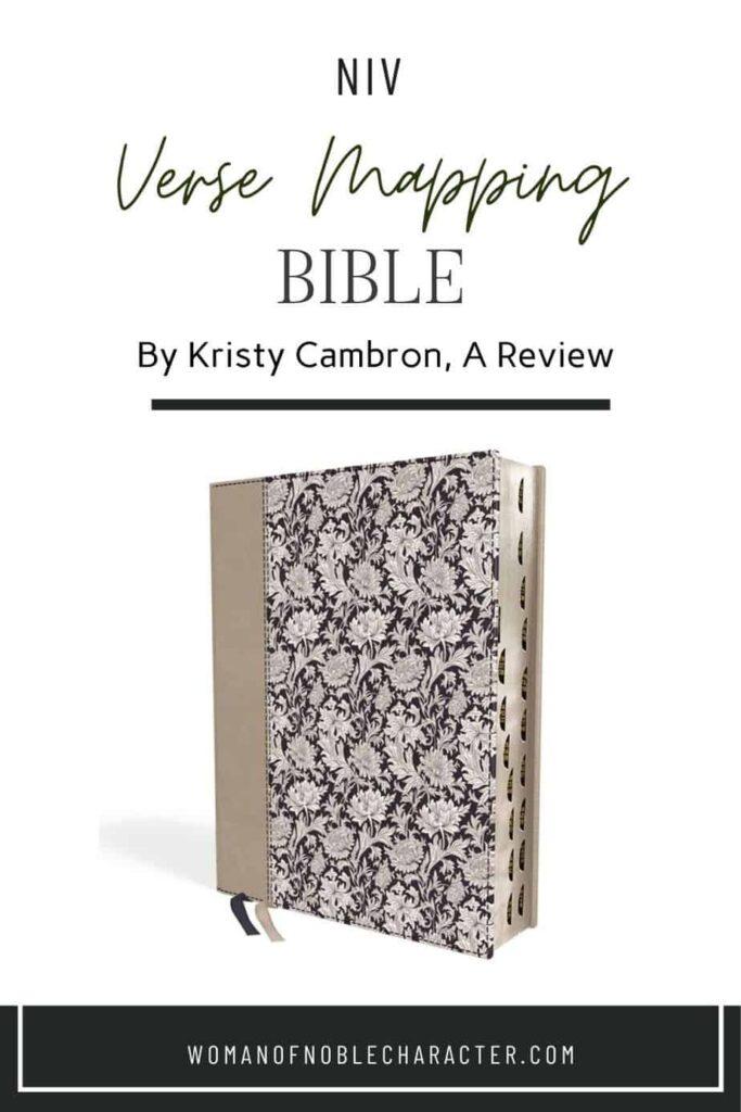 NIV Verse Mapping Bible Kristy Cambron