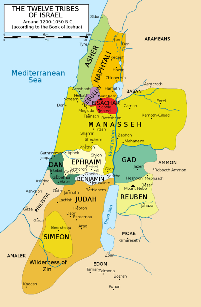 map of tribe of Zebulun