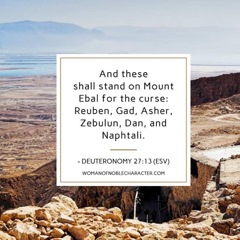 ruins in Israel; deuteronomy 27:13, Zebulun