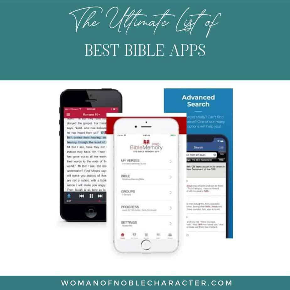 Bible apps screenshots