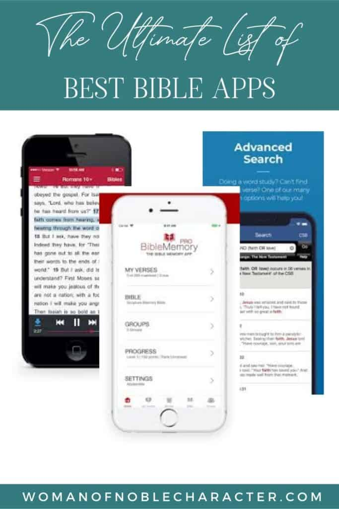 best Bible apps with screenshots of 3 Bible apps